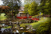 Chinese Red Posters - Architecture - Japan - Tranquil moments  Poster by Mike Savad