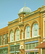 Architectural Details Photo Prints - Architecture Small Town America photograph Print by Ann Powell