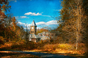 Autumn Scenes Art - Architecture - The university  by Mike Savad