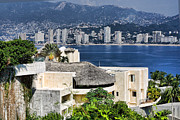 Acapulco Prints - Architecture with Ith Acapulco Skyline Print by Linda Phelps