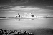 Infrared Photos - Archway Islands Wharariki Beach by Colin and Linda McKie