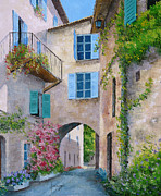 Picturesque Digital Art Prints - Archway Print by Jean-Marc Janiaczyk