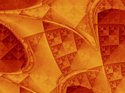 Orange Digital Art - Archways by David Ridley