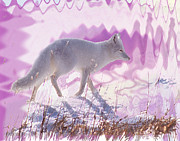Fox Digital Art - Arctic Fox In Dreamscape by Alice Ramirez