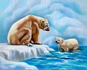Arctic Pastels - Arctic Heart by Nancy L Baker