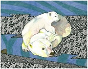 Arctic Drawings - Arctic Hug by Amy Frank