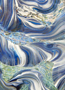 Glass Art Glass Art Metal Prints - Arctic Metal Print by Jubilant Glass And Art