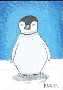 Arctic Drawings Metal Prints - Arctic Penguin Metal Print by Raquel