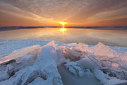 Drifting Snow Prints - Arctic Sunset in Holland Print by Ron Buist