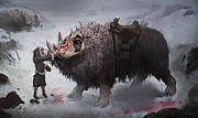 Britney Winthrope Art - Arctic War Beast by Britney Winthrope