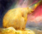Northern Lights Mixed Media Posters - Arctic Wonders Poster by Carol Cavalaris