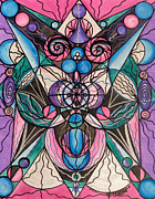 Vibrational Frequency Paintings - Arcturian Healing Lattice  by Teal Eye  Print Store