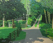 Scottish Art Originals - Ardentinny Woods print version by Malcolm Warrilow
