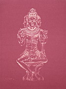 Jungian Drawings - Ardhanarishvara II by Michele Myers