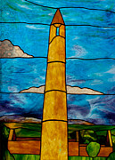 Copper Foil Glass Art - Ardmore Tower  by David Kennedy