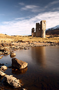 Scottish Landscape Framed Prints - Ardvreck Castle Framed Print by Grant Glendinning