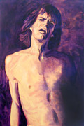 Mick Painting Originals - Are You Already Over Me? by Carole DIane Heslin