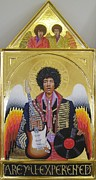 Egg Tempera Paintings - Are You Experienced Altarpiece by Rocco Pazzo