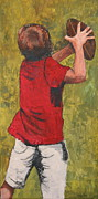 Football Paintings - Are you ready by Betty-Anne McDonald