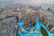 United Arab Emirates Prints - Areal View over Dubai Print by Lars Ruecker