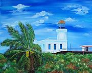 Arecibo Lighthouse Puerto Rico Print by Gloria E Barreto-Rodriguez