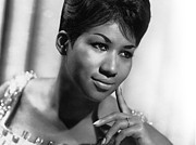 Music Photo Metal Prints - Aretha Franklin Poster Metal Print by Sanely Great