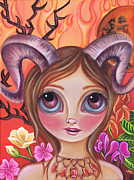 Astrology Paintings - Aries by Jaz Higgins