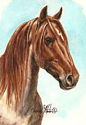 Mustang A Day Challenge Paintings - Aries  by Linda L Martin
