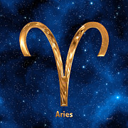 Zodiac Sign Prints - Aries Print by Marsha Charlebois