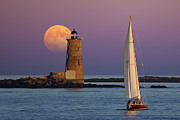 Sea Moon Full Moon Prints - Arise Print by Larry Landolfi
