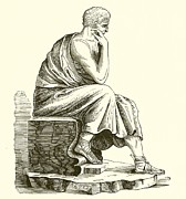 Famous Drawings Prints - Aristotle Print by English School