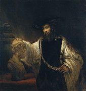 Aristotle - Aristotle with a Bust of Homer by Rembrandt