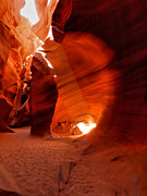 Light Rays Prints - Arizona - Antelope Canyon 026 Print by Lance Vaughn
