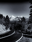Hopi Prints - Arizona Country Road in Black and White Print by Joshua House