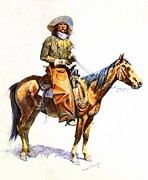 Western Western Art Prints - Arizona Cowboy Print by Frederic Remington