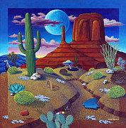 Sand Dunes Paintings - Arizona Daze by Snake Jagger