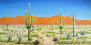 Jerome Stumphauzer Posters - Arizona Desert Poster by Jerome Stumphauzer