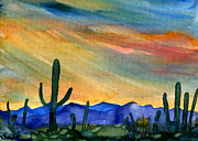 Original Paintings - Arizona Desert by Sandra Stone