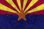 U S Flag Digital Art Posters - Arizona Flag Poster by World Art Prints And Designs