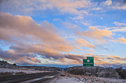 Winter Storm Metal Prints - Arizona Highway Sunset Metal Print by Anthony Citro