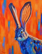 Hare Posters - Arizona Jack Poster by Theresa Paden