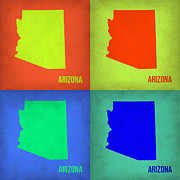 City Map Art - Arizona Pop Art Map 3 by Irina  March