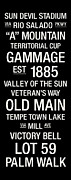 Word Photos - Arizona State College Town Wall Art by Replay Photos