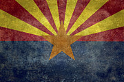 Backdrop Digital Art - Arizona State flag by Bruce Stanfield