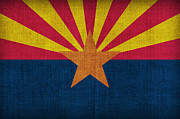Arizona State Flag Print by Pixel Chimp