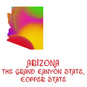 Abstract Map Posters - Arizona State Map Collection 2 Poster by Andee Photography