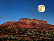 Luna Prints - Arizona Supermoon 003 Print by Lance Vaughn
