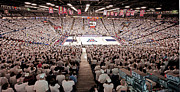 Sports Prints Framed Prints - Arizona Wildcats White Out at McKale Center Framed Print by Replay Photos