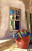 Adobe Mixed Media Prints - Arizona window Print by Craig Nelson