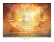 Ark Mixed Media Framed Prints - Ark of the Covenant Framed Print by Michael A Woodside